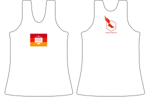 HRL mens-womens white singlet